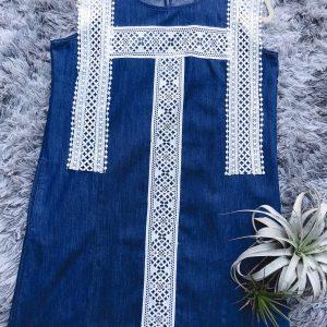 Lace Jeans Dress